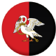 Buckinghamshire County Flag 25mm Pin Button Badge